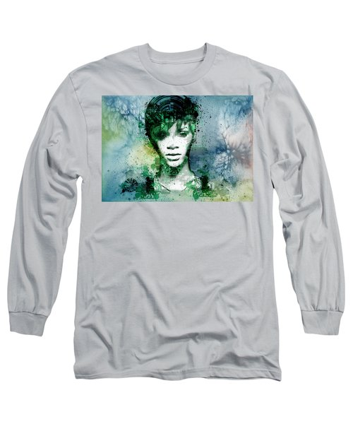 Rihanna 4 Long Sleeve T-Shirt by Bekim Art