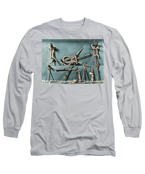 Long Sleeve T-Shirt featuring the photograph Roman Surgical Instruments, 1st Century by Science Source