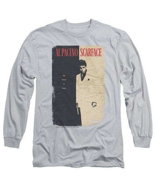 Scarface - Vintage Poster Long Sleeve T-Shirt by Brand A