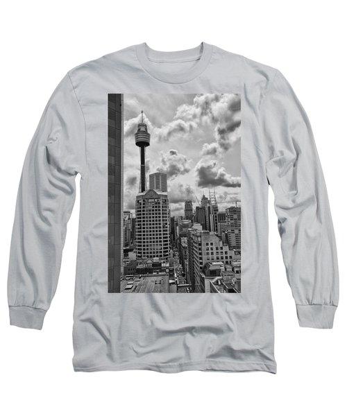 Sydney Skyline Long Sleeve T-Shirt by Douglas Barnard