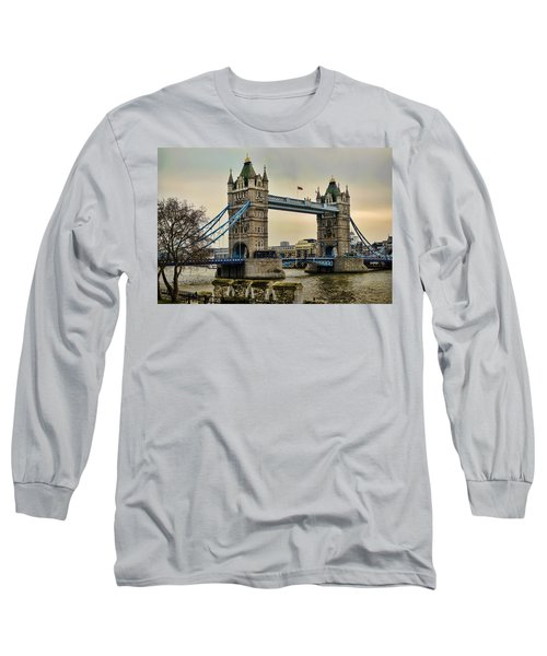 Tower Bridge On The River Thames Long Sleeve T-Shirt by Heather Applegate