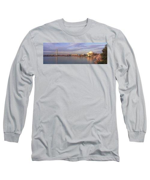 Usa, Washington Dc, Tidal Basin, Spring Long Sleeve T-Shirt by Panoramic Images