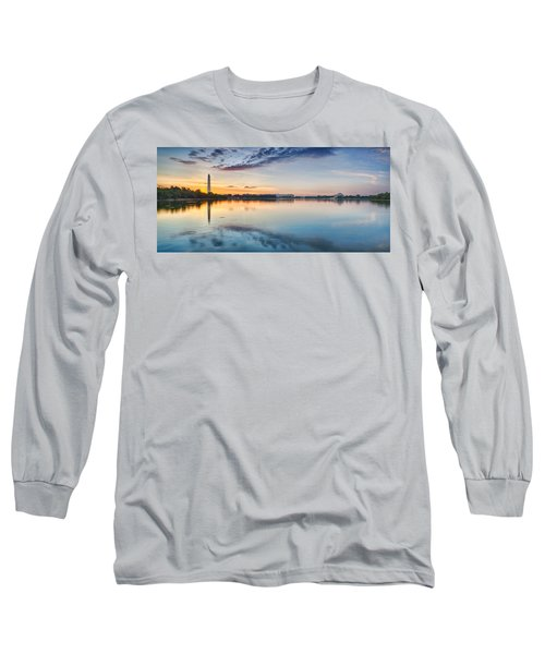Washington Dc Panorama Long Sleeve T-Shirt by Sebastian Musial