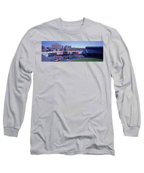 Yankee Stadium Ny Usa Long Sleeve T-Shirt by Panoramic Images