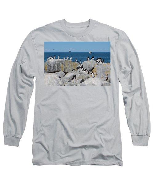 Auk Island Long Sleeve T-Shirt by Bruce J Robinson