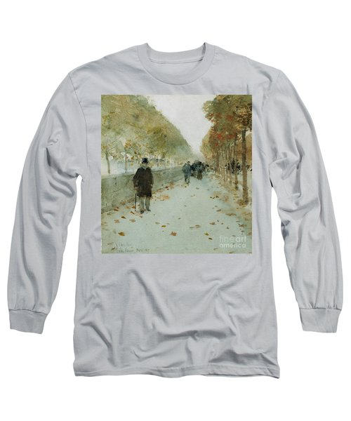 Quai Du Louvre Long Sleeve T-Shirt by Childe Hassam