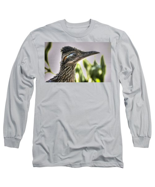 Roadrunner Portrait  Long Sleeve T-Shirt by Saija  Lehtonen