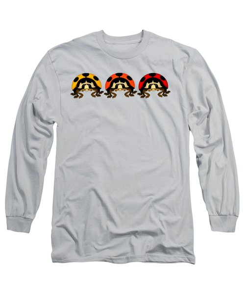 3 Bugs In A Row Long Sleeve T-Shirt by Sarah Greenwell