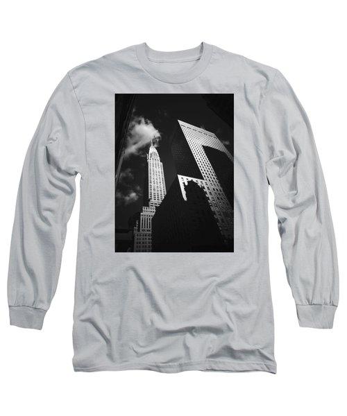 Chrysler Building - New York City Long Sleeve T-Shirt by Vivienne Gucwa