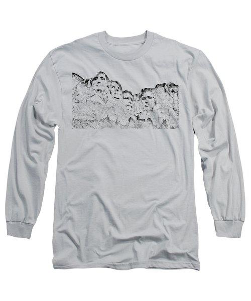 The Four Presidents Long Sleeve T-Shirt by John M Bailey