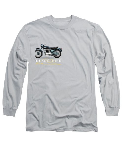 Triumph Thunderbird 1955 Long Sleeve T-Shirt by Mark Rogan