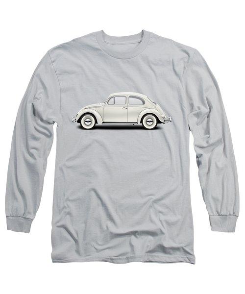 1961 Volkswagen Deluxe Sedan - Pearl White Long Sleeve T-Shirt by Ed Jackson