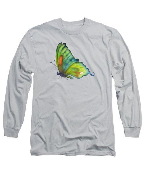 3 Perched Orange Spot Butterfly Long Sleeve T-Shirt by Amy Kirkpatrick