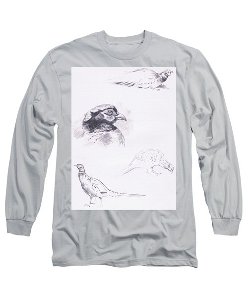 Pheasants Long Sleeve T-Shirt by Archibald Thorburn