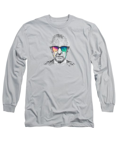 Albert Hofmann - Psychedelic Polygon Crystalised Portrait Long Sleeve T-Shirt by Philipp Rietz