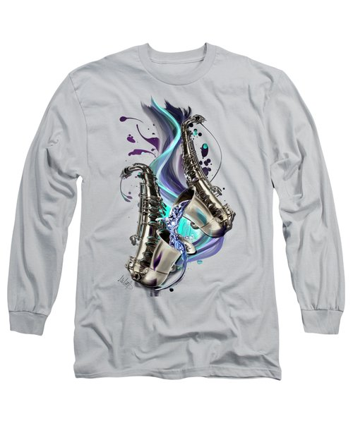 Aquarius Long Sleeve T-Shirt by Melanie D
