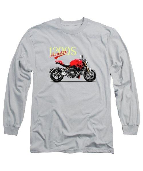 Ducati Monster Long Sleeve T-Shirt by Mark Rogan