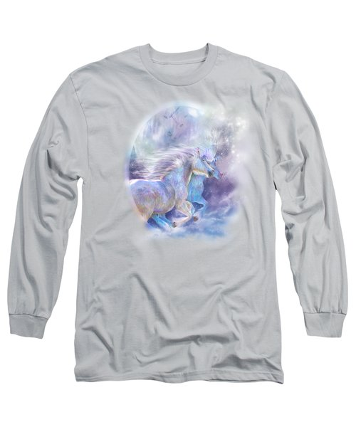 Unicorn Soulmates Long Sleeve T-Shirt by Carol Cavalaris