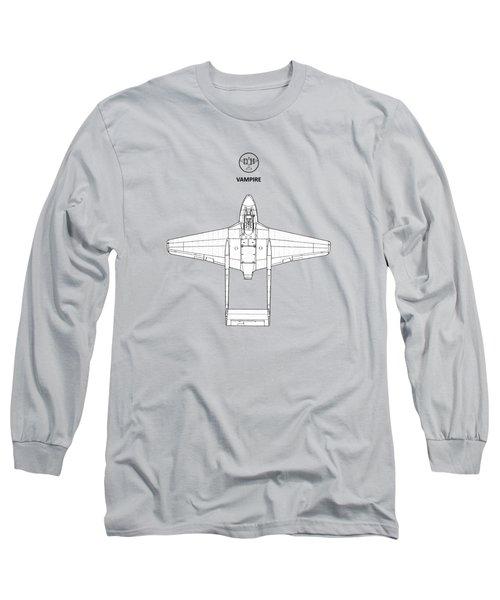 The De Havilland Vampire Long Sleeve T-Shirt by Mark Rogan