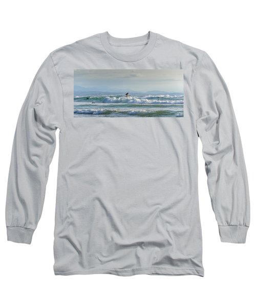 Long Sleeve T-Shirt featuring the photograph Big Surf Invitational I by Thierry Bouriat