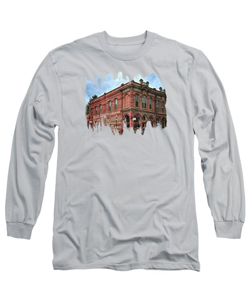 Boomtown Saloon Jacksonville Oregon Long Sleeve T-Shirt by Thom Zehrfeld