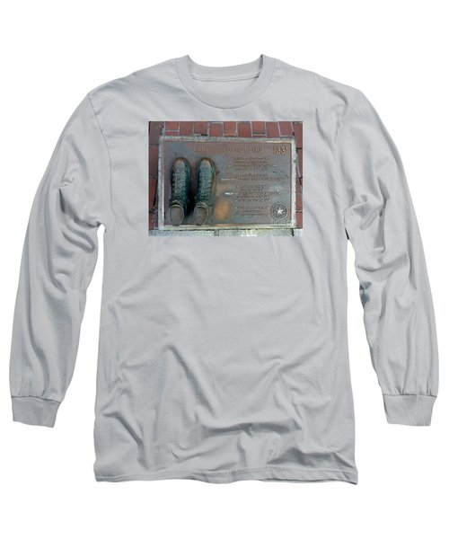 Boston Celtics Larry Bird Long Sleeve T-Shirt by Gina Sullivan