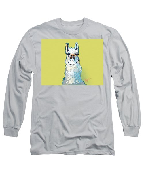 Bright Mustard Llama Long Sleeve T-Shirt by Niya Christine