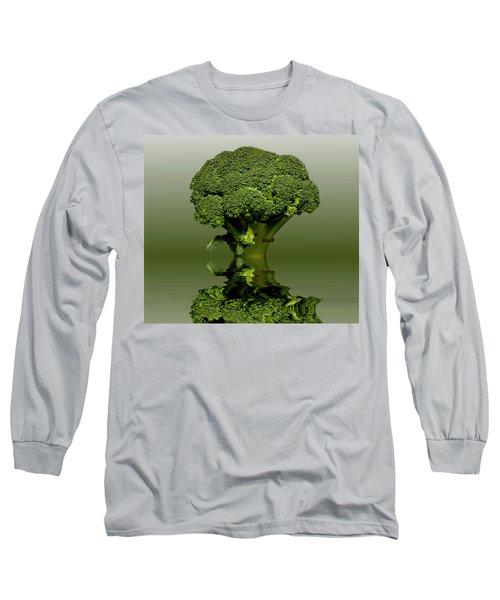 Broccoli Green Veg Long Sleeve T-Shirt by David French