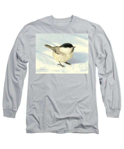 Chilly Chickadee Long Sleeve T-Shirt by Sarah Batalka