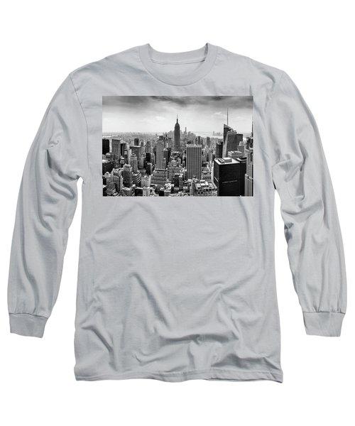 Classic New York  Long Sleeve T-Shirt by Az Jackson