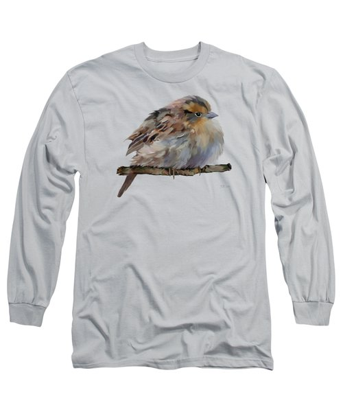 Colourful Sparrow Long Sleeve T-Shirt by Bamalam  Photography