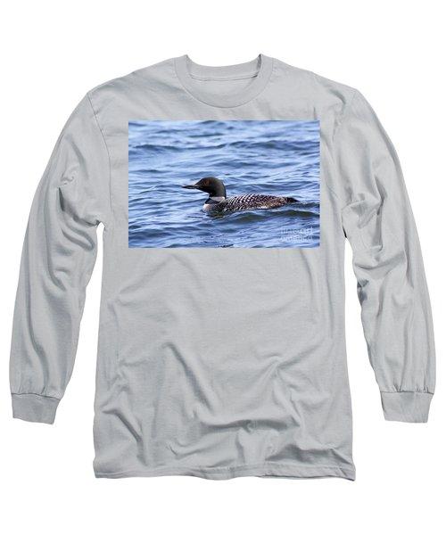 Common Loon Long Sleeve T-Shirt by Teresa Zieba