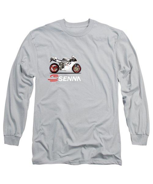 Ducati 916 Senna Long Sleeve T-Shirt by Mark Rogan