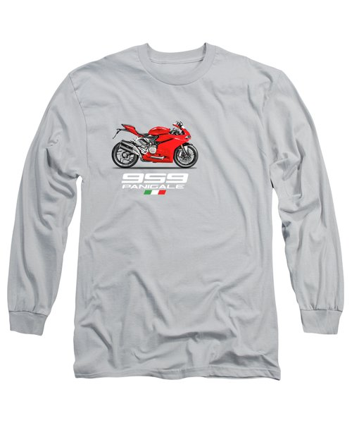 Ducati Panigale 959 Long Sleeve T-Shirt by Mark Rogan