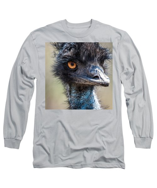 Emu Eyes Long Sleeve T-Shirt by Paul Freidlund
