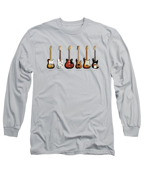 Fender Guitar Collection Long Sleeve T-Shirt by Mark Rogan