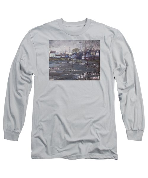 Gloomy And Rainy Day By Hyde Park Long Sleeve T-Shirt by Ylli Haruni