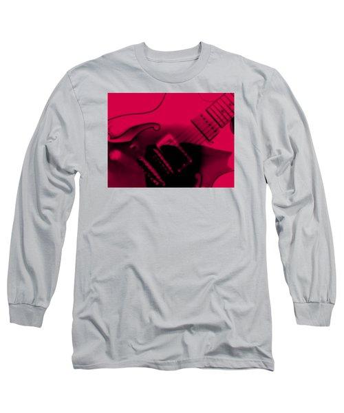 Guitar Watermelon Long Sleeve T-Shirt by Darin Baker