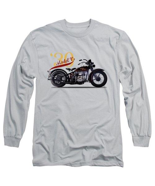 Harley-davidson Model V 1930 Long Sleeve T-Shirt by Mark Rogan
