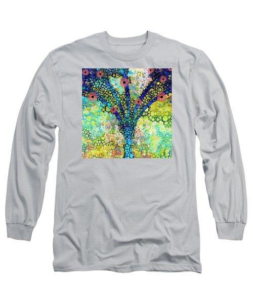 Inspirational Art - Absolute Joy - Sharon Cummings Long Sleeve T-Shirt by Sharon Cummings