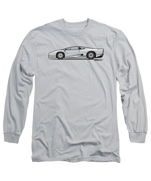 Jag Xj220 Spa Silver Long Sleeve T-Shirt by Monkey Crisis On Mars