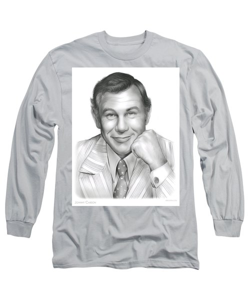 Johnny Carson Long Sleeve T-Shirt by Greg Joens