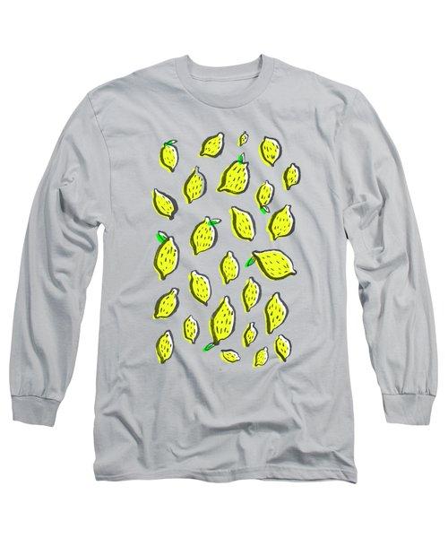 Limones De Primavera Long Sleeve T-Shirt by Studio Sananikone