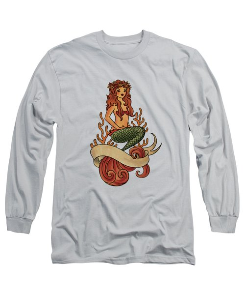 Mermaid Long Sleeve T-Shirt by Susan Wall