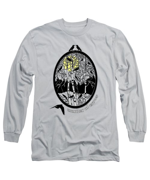 Murder Of Crows Long Sleeve T-Shirt by Methune Hively