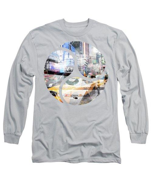 New York City Geometric Mix No. 9 Long Sleeve T-Shirt by Melanie Viola