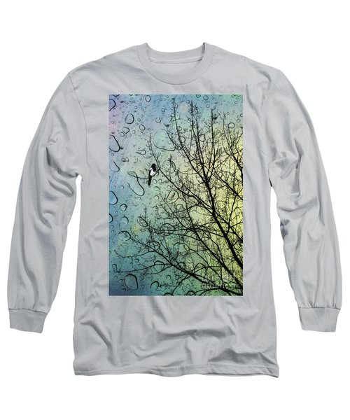 One For Sorrow Long Sleeve T-Shirt by John Edwards