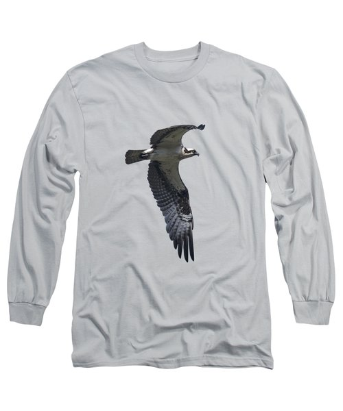 Osprey In Flight 2 Long Sleeve T-Shirt by Priscilla Burgers