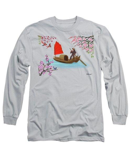 Peaceful Journey Long Sleeve T-Shirt by Glenn Holbrook