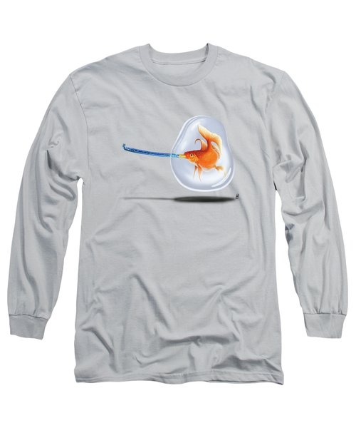 Popper Wordless Long Sleeve T-Shirt by Rob Snow